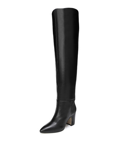 Hutton Leather Over-The-Knee Boots