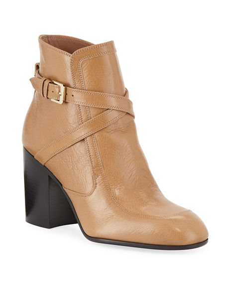 Laurence Dacade TONIA CRISSCROSS LEATHER BOOTIES