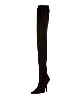 Jersey Crepe Over The Knee Boot by Balenciaga