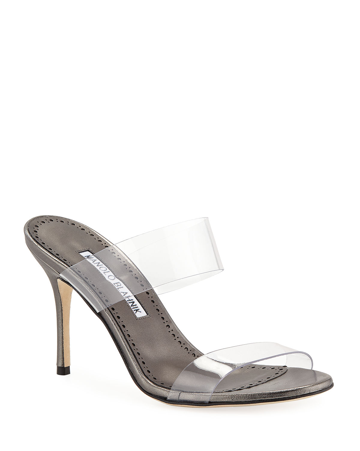 Scolto Leather and PVC Slide Sandals