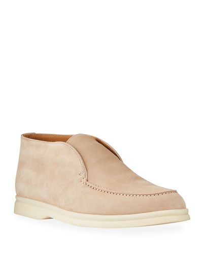 Open Walk Suede Booties