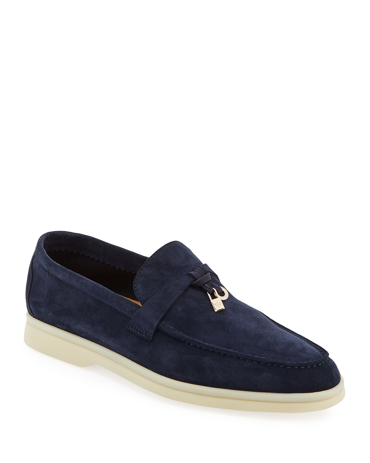 94da223ee84 Loro Piana Summer Charms Walk Suede Loafers