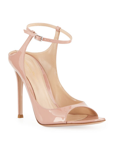 Patent Ankle-Strap Sandals