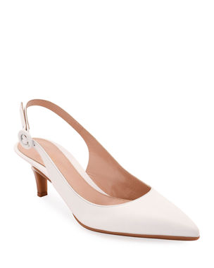 ff35a497bf5 Gianvito Rossi Leather Slingback Pointed Pumps