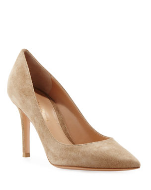ba6616ec49e Gianvito Rossi Gianvito 85 Suede Point-Toe 85mm Pump