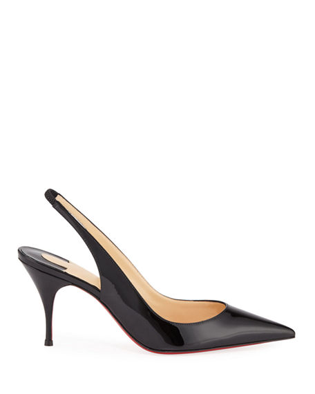 Image 2 of 5: Christian Louboutin Clare Slingback Red Sole Pumps