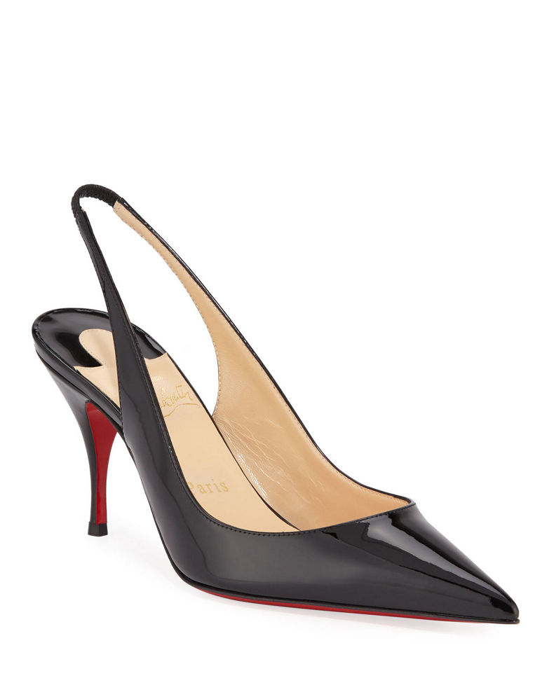 Christian Louboutin Clare Slingback Red Sole Pumps