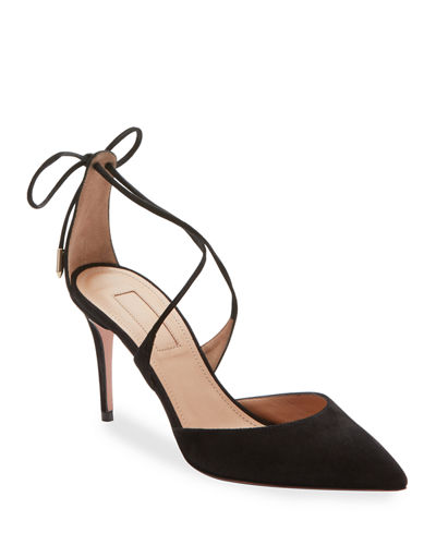 Very Matilde Suede Crisscross Pumps