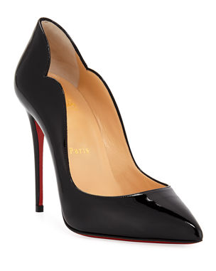 1b655bc3953c Christian Louboutin Hot Chick 100 Patent Red Sole Pumps