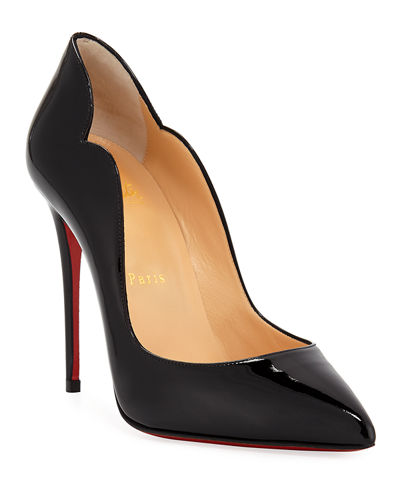 Hot Chick 100 Patent Red Sole Pumps
