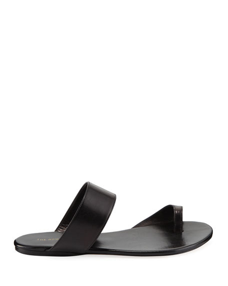 e14a81a69f05 Image 3 of 5  Infradito Flat Leather Toe-Strap Slide Sandals
