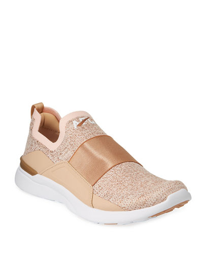 Techloom Bliss Metallic Knit Slip-On Running Sneakers