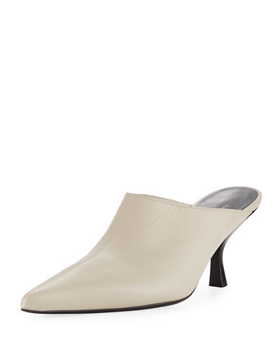 Bourgeoisie Calf Pointed-Toe Mules
