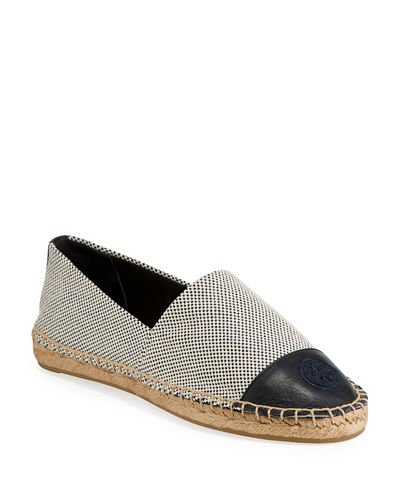 Colorblock Flat Canvas Espadrilles