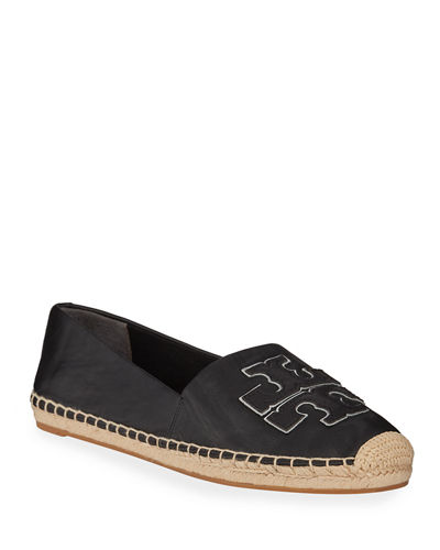 Ines Flat Leather Logo Espadrilles