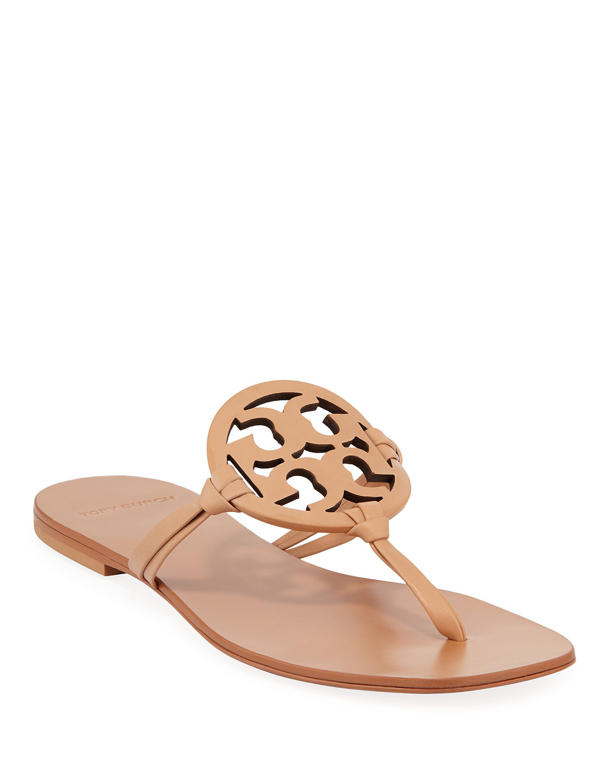 9718c9e08 Tory Burch Miller Square-Toe Flat Slide Sandals