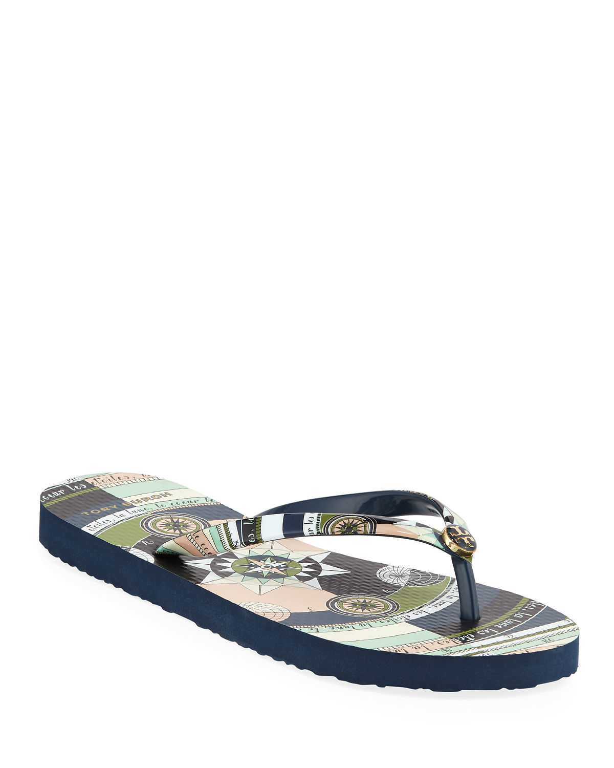 e568937f2054dc Tory Burch Printed Flip-Flop Sandals