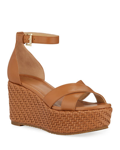 Desiree Woven Wedge Sandals