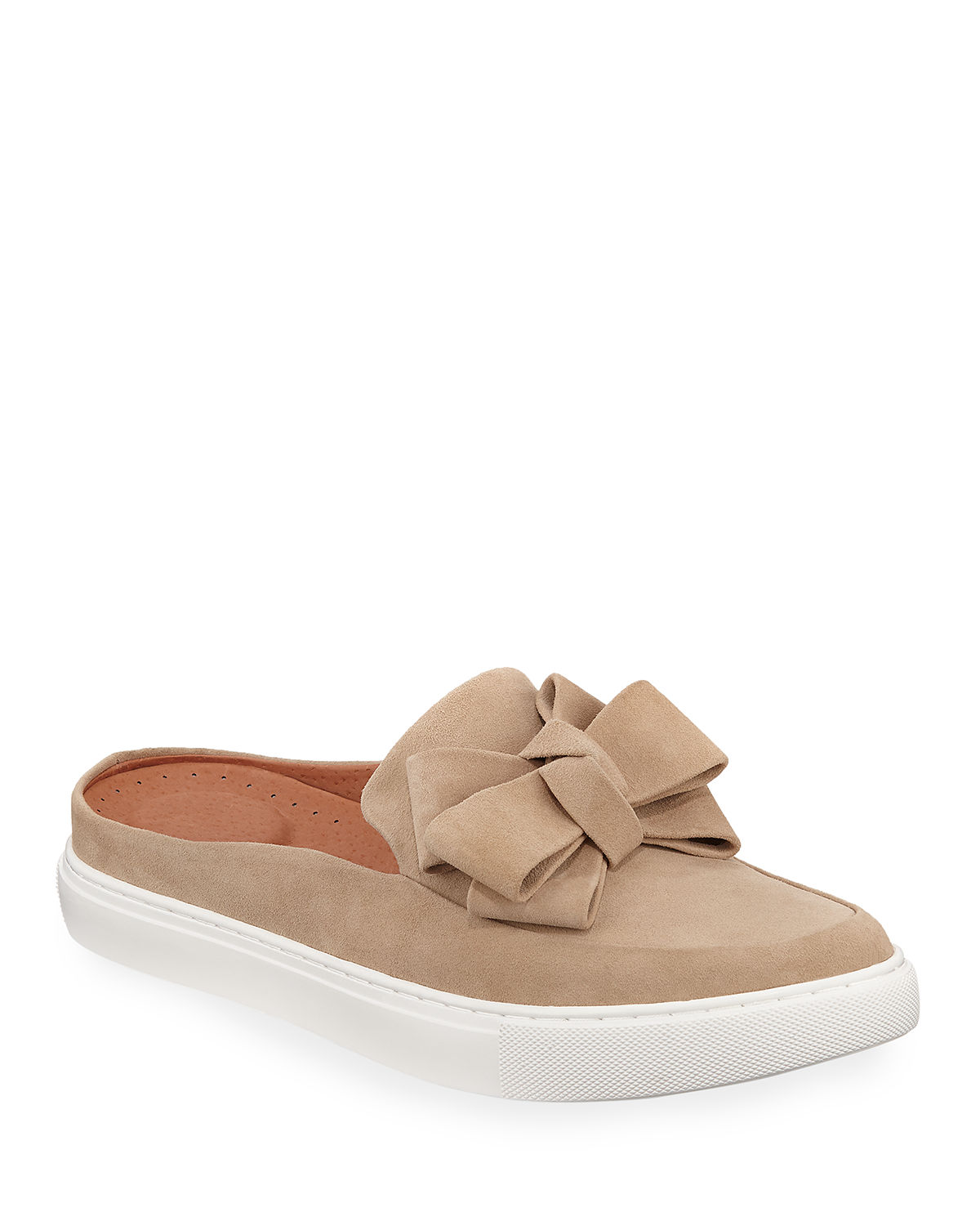0f99bf0d282 Gentle Souls Rory Ribbon-Front Suede Mule Sneakers