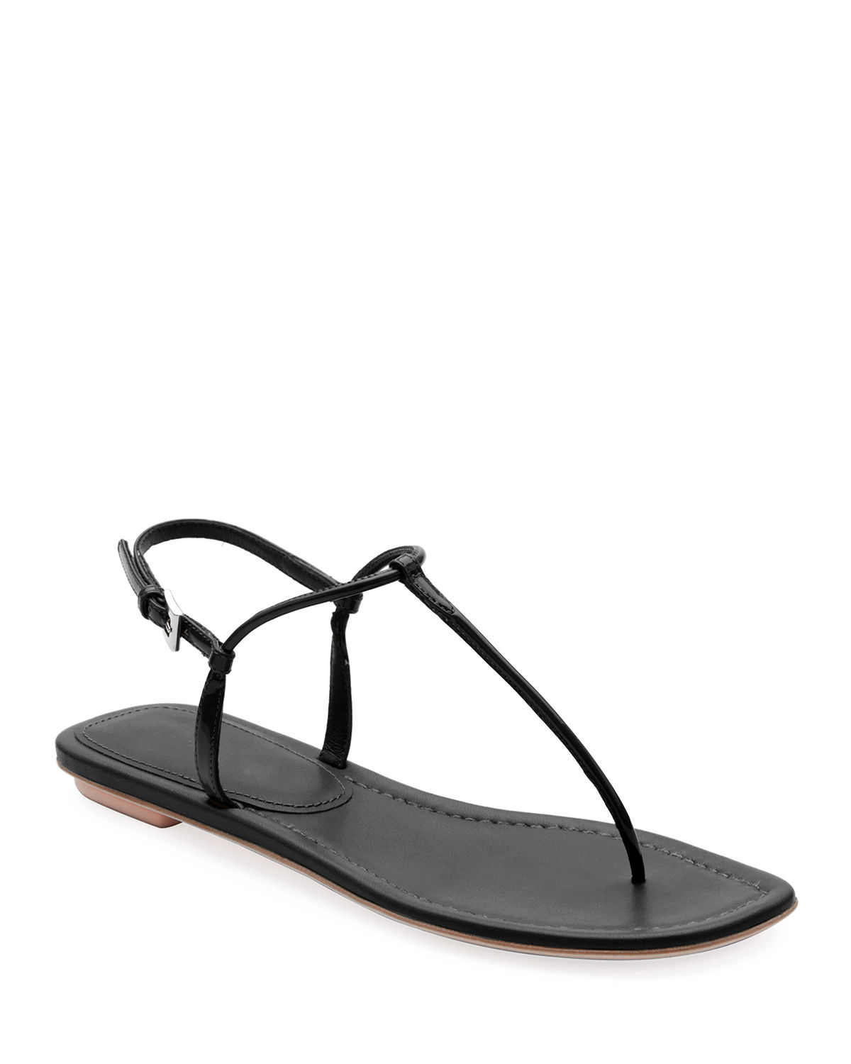 c351d54db383 Prada Flat Patent Leather Thong Sandals