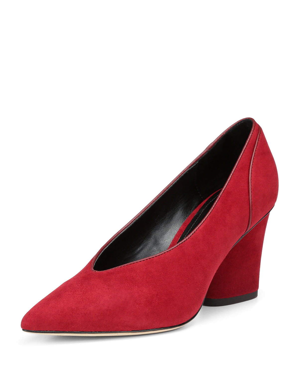 Glenn Suede Pointed-Toe Pumps