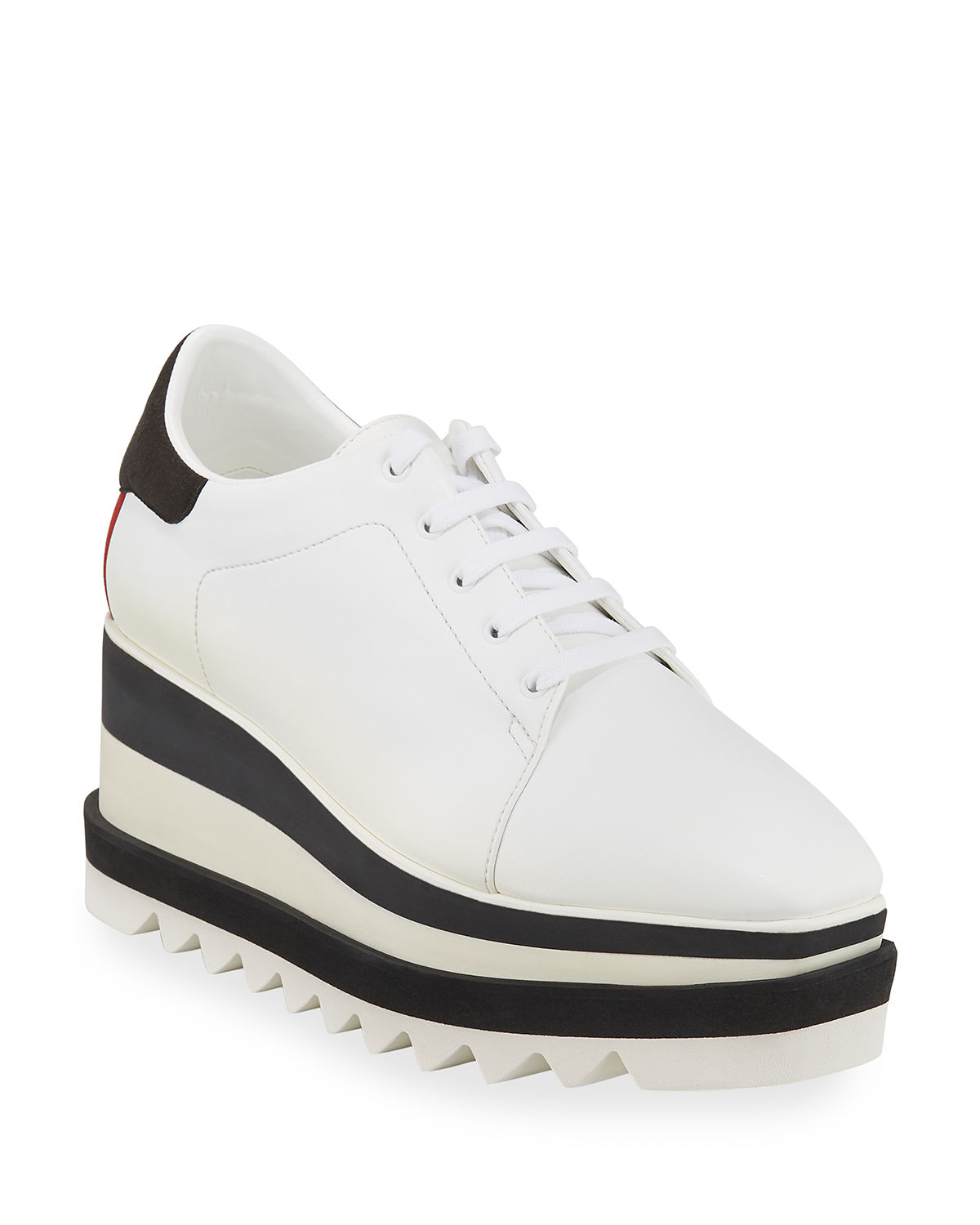 Sneakelyse Lace-Up Bright Sneakers