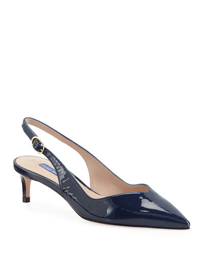 Edith Patent Slingback Pumps