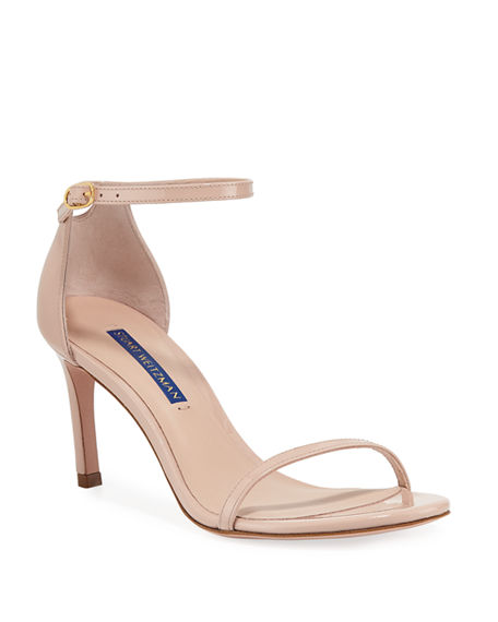 07f6d179e7e Nudist 80 Patent Leather Naked Sandals in Clay