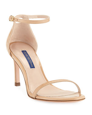 bef16dd08e27 Stuart Weitzman Nudist 80 Patent Leather Naked Sandals