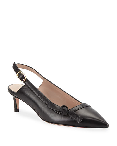 Hayworth Leather Slingback Pumps