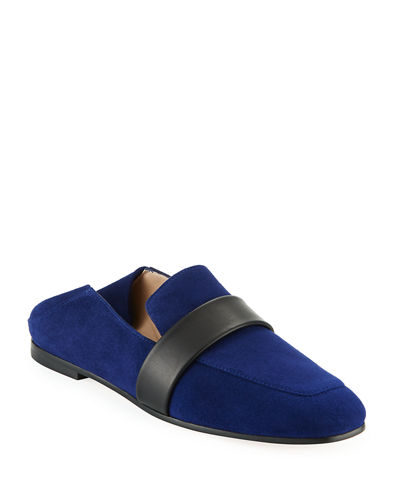 Wylie Flat Suede Fold-Down Loafers