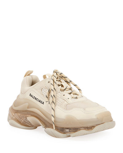 Triple S Air Nylon Sneakers with Logo