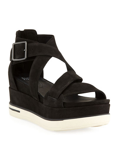 Boost Leather Platform Sandals