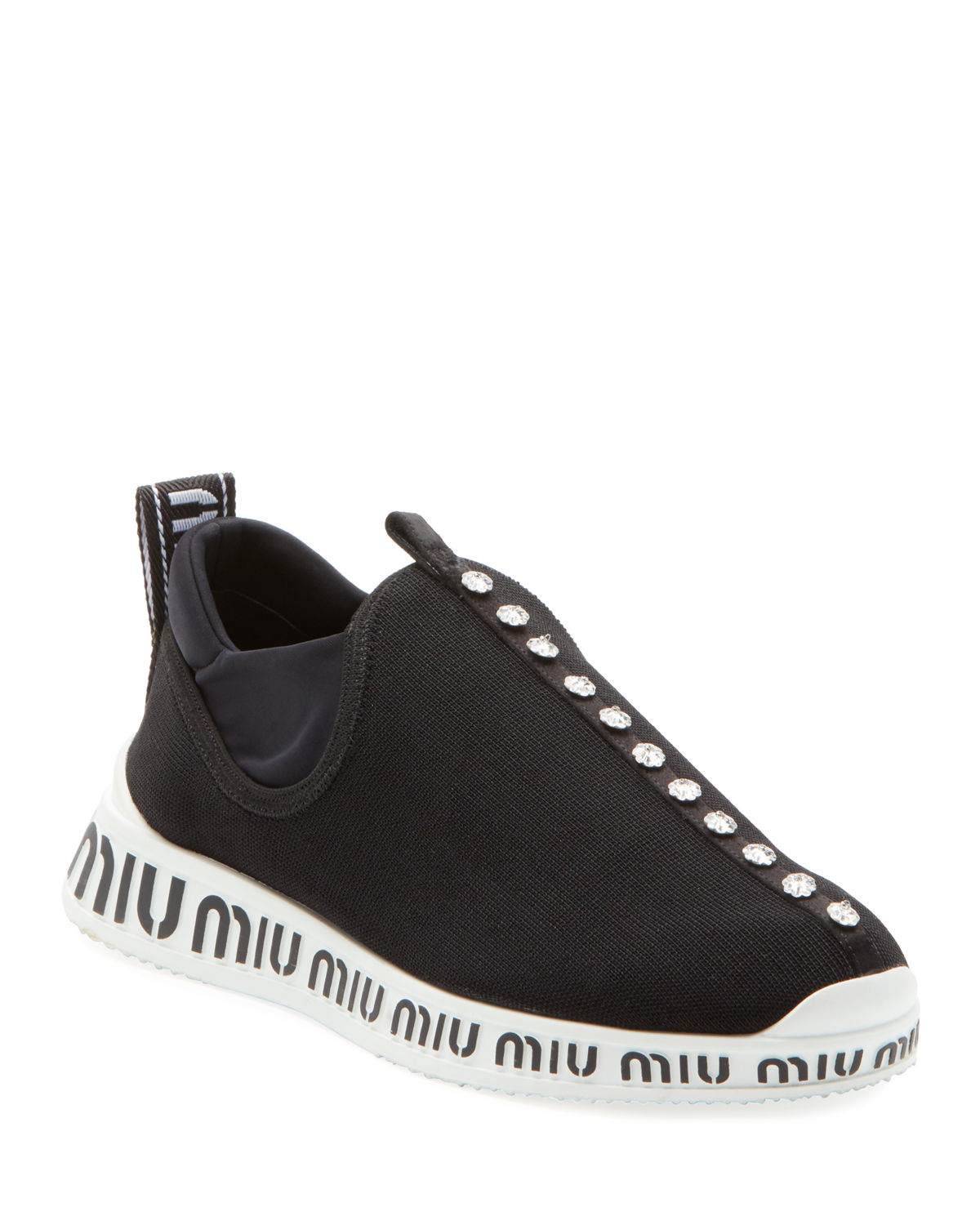 Jeweled Slip-On Trainer Sneakers