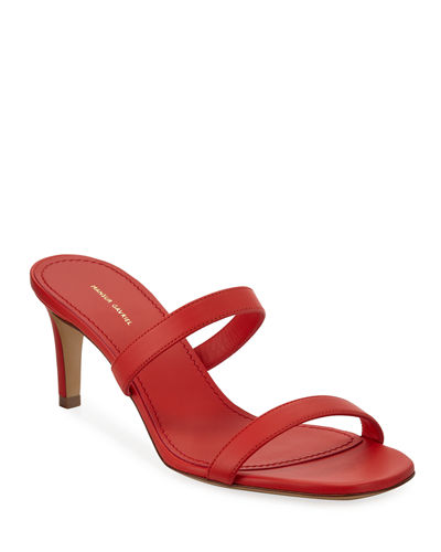 Skinny Double-Strap Sandals