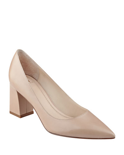 Zala Smooth Leather Point-Toe Pumps