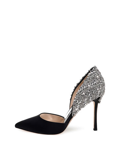 Volare Embellished Satin Pumps