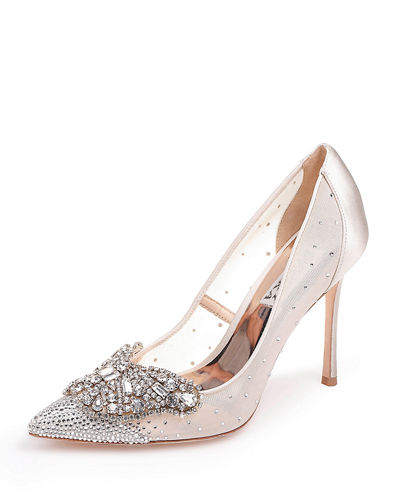 Quintana Mesh Embellished Pumps