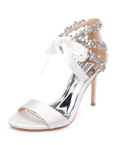 Felicia Crystal and Satin Pumps