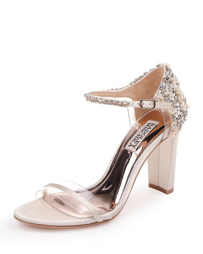 Fernanda Embellished Satin Sandals