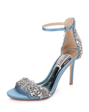 ee5673679 Badgley Mischka Fabiana Embellished Satin Sandals. Favorite. Quick Look