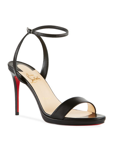Loubi Queen Red Sole Ankle-Wrap Sandals