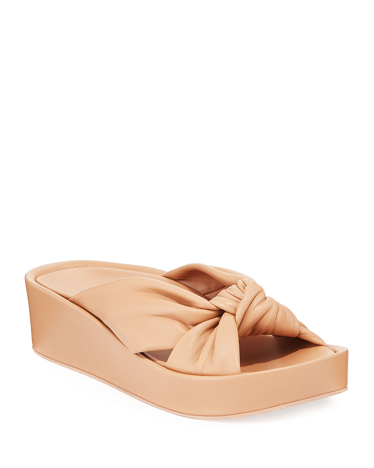 Lany Knotted-Leather Flatform Sandals