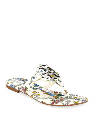 64c45915d Tory Burch Miller Printed Flat Thong Sandals
