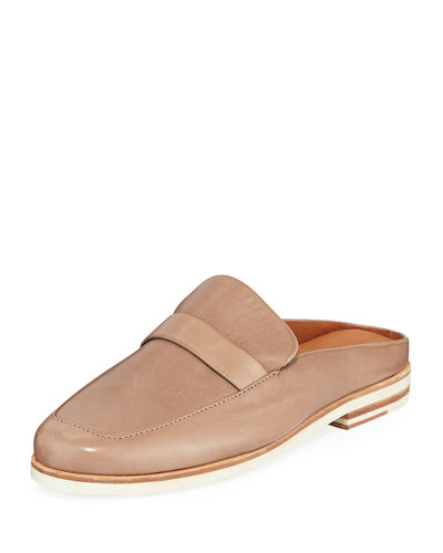 Everett Leather Loafer Mules