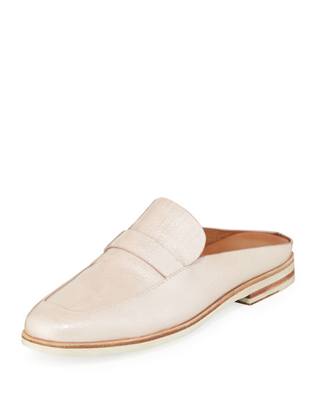 Gentle Souls Mules EVERETT LEATHER LOAFER MULES