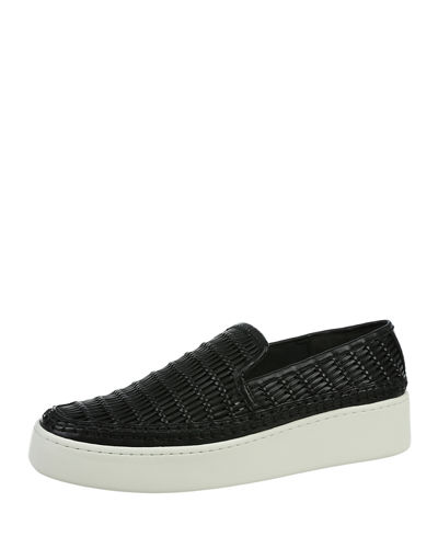 Stafford Woven Leather Sneakers