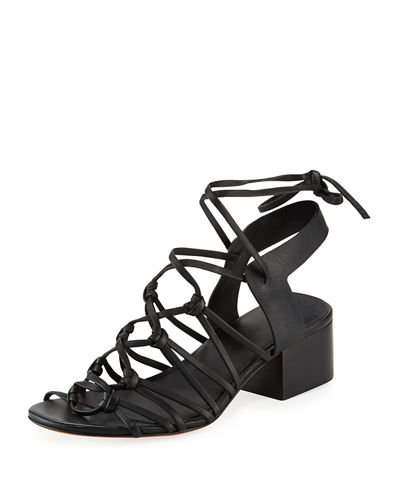 Beaumont Knotted Leather Sandals