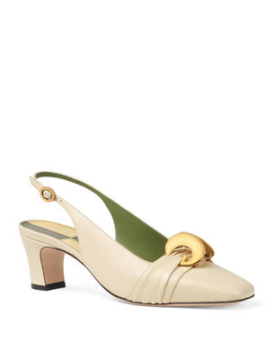 688ee5fbe76 Gucci Usagi 55mm Leather Slingback Pumps