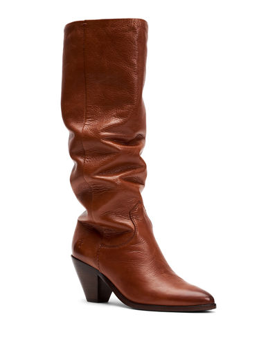 Lila Slouchy Leather Boots